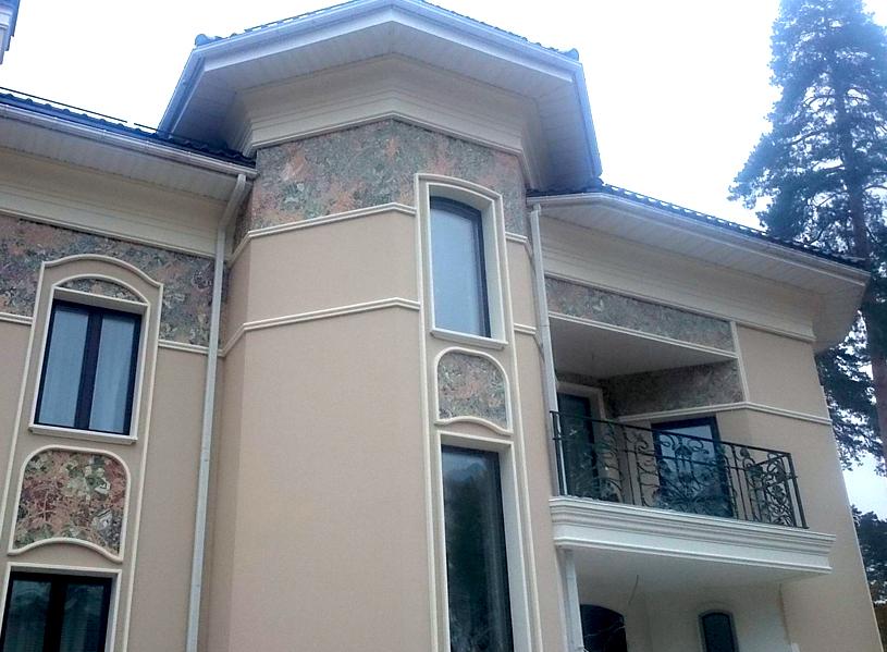 Строящийся дом в КП «Модерн»